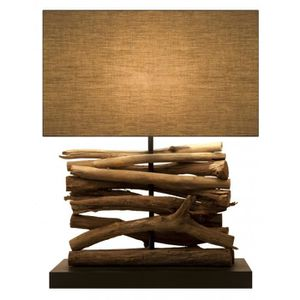 lampe en bois flotte achat vente lampe en bois flotte pas cher cdiscount. Black Bedroom Furniture Sets. Home Design Ideas