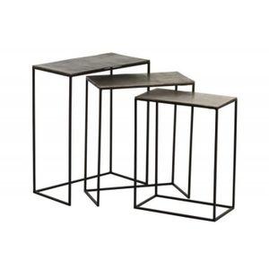 BOUT DE CANAPÉ Set de 3 tables gigognes rectangulaires design noi
