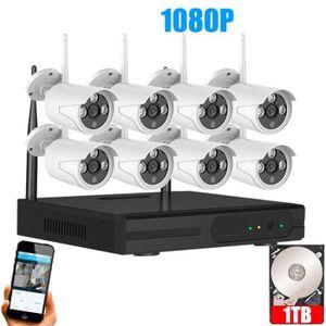 CAMÉRA IP 2TB HDD Système de vidéosurveillance sans fil IP 2