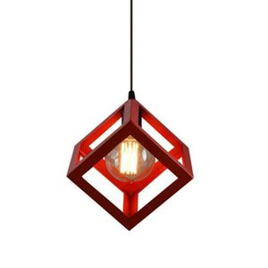 LUSTRE ET SUSPENSION E27 Suspension Rétro Vintage Cube Carré Lustre aba