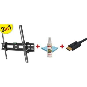 FIXATION - SUPPORT TV BARKAN CM310 Kit 3 en 1 Support Ecran plat, incurv