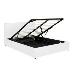STRUCTURE DE LIT Lit coffre sublime box - Blanc 140 x 190 cm - Conf