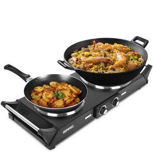 PLAQUE INDUCTION Duronic HP2BK Table de cuisson avec plaques en fon