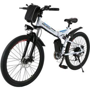 VÉLO ASSISTANCE ÉLEC ANCHEER Vélo électrique vélo de montagne pliable a