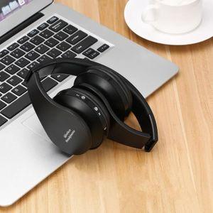 Boucle d'oreille Micro-casque stéréo sans fil pliable pour ordinate
