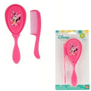 BROSSE - PEIGNE Set Brosse et Peigne Disney Minnie Mouse Rose - Sa