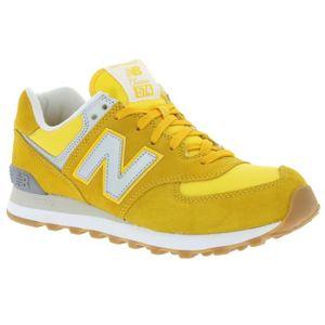 new balance 574 homme jaune