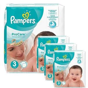 COUCHE 192 Couches Pampers ProCare Premium protection tai
