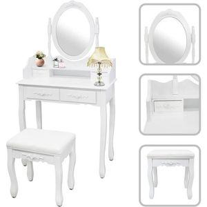 COIFFEUSE Coiffeuse, Table de Maquillage, 4 tiroirs, miroir