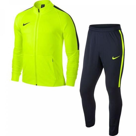 Survêtement Nike Squad 17 knit jaune fluo marine Prix pas