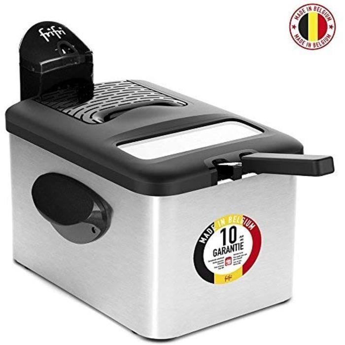 Frifri F5848-DUO Friteuse, Acier Inoxydable, Noir