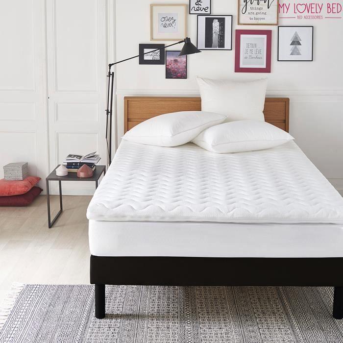 My Lovely Bed - Surmatelas Mémoire de forme - 160x200cm - Déhoussable - 7cm d'epaisseur - Qualité Hôtellerie