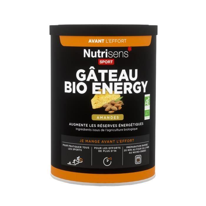 NUTRISENS Complément alimentaire - Pot de 400g pour préparation de gâteau énergétique - Amande