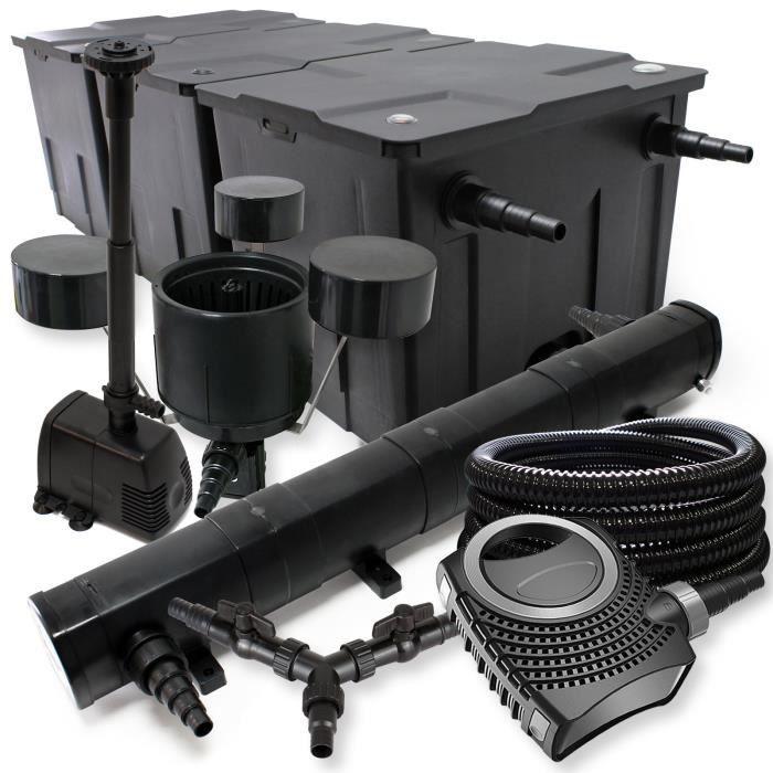 SunSun Kit filtration bassin 90000l 72W Stérilisateur NEO10000 80W Pompe 25m Tuyau Skimmer Fontaine - 55274