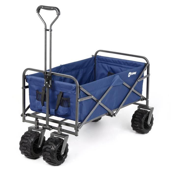 Sekey Charrette de Transport Pliable Chariot de Transport Jardin Chariot de Plage