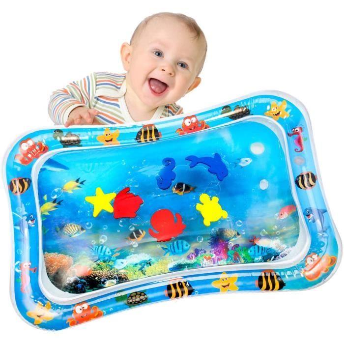 Tapis d'eau Gonflable pour Bébé Tapis de Jeu Gonflé Coussin Gonflable de Rempli d'eau Amusement d'activité