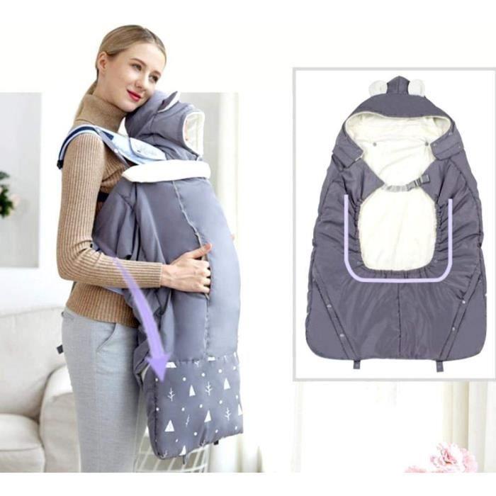 Manteau Portage Bebe, Couverture de Portage Cape Porte Capuchon Housse Porte-Bebe Chaud Doux pour Maman Bébé