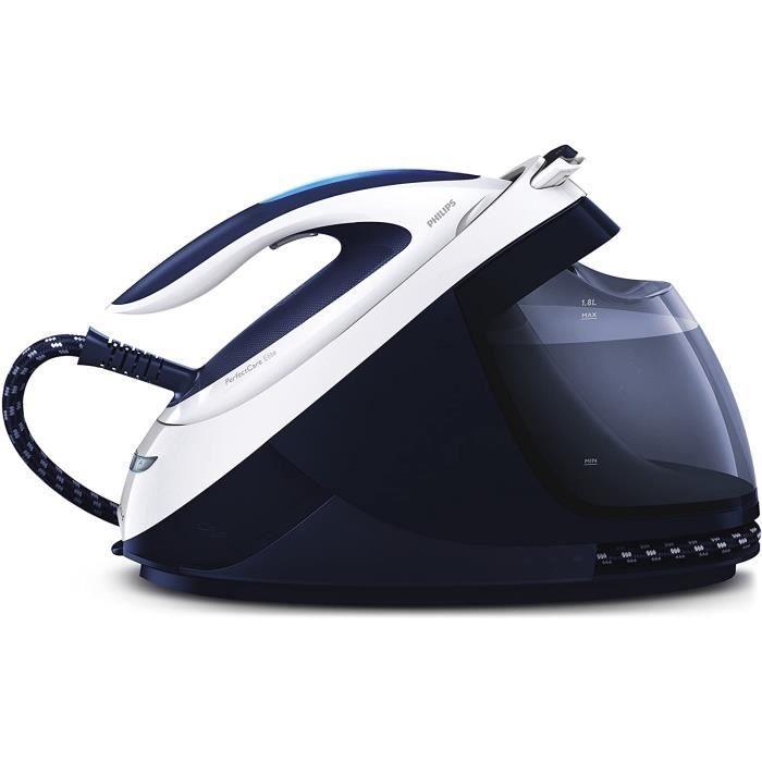 Philips GC9614/20 Centrale Vapeur PerfectCare Elite sans Réglage, 7,5 bar Effet Pressing Jusqu'à 500g