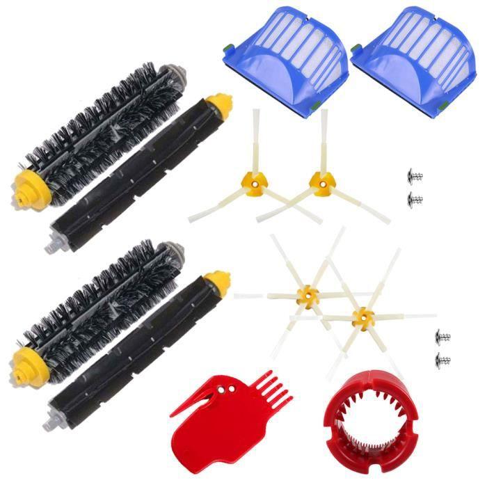 Unny 16pcs Kit Pièces accessoires Pour iRobot Roomba 600 Series 605 610 615 616 620 625 630 631 632 639 650 651 660 670 680 681