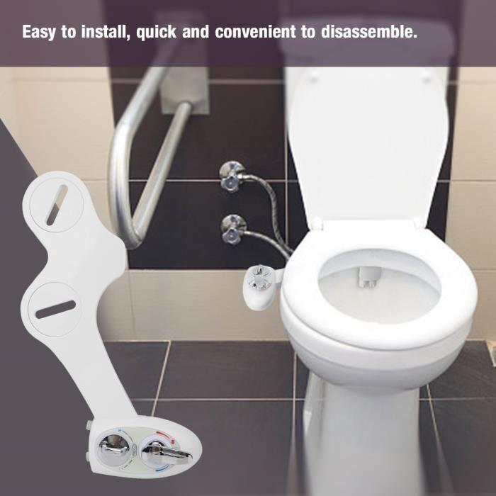 WONGJSHOP®accessoire de toilette de bidet Bidet de toilette eau froide chaude double buse accessoire de siège de toilette