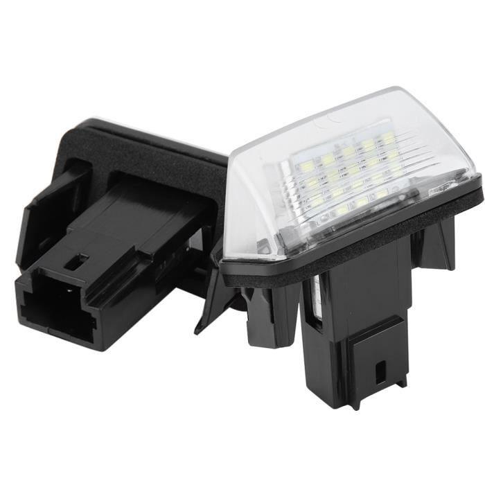 Dioche Éclairage de la plaque d'immatriculation 2pcs 18 LED Lampe Plaque d'Immatriculation de Voiture Gauche Droite pour Citroen C3