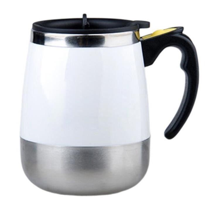Gourde - Bouteille isotherme,Tasse à café en acier inoxydable AIA99 Tasse à remuer Auto electique à remuer soi même, - Type White