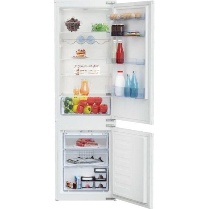 Réfrigérateur encastrable combiné BEKO BCHA275K3S Blanc