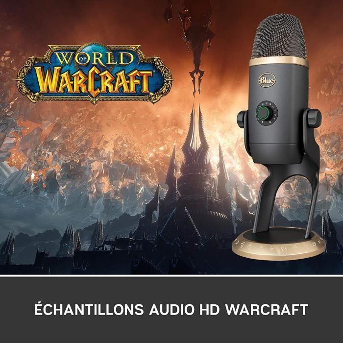 Blue Yeti X Microphone professionnel USB pour le streaming, Edition World of Warcraft, effets Blue VO!CE - Avec Personnages de Warcr
