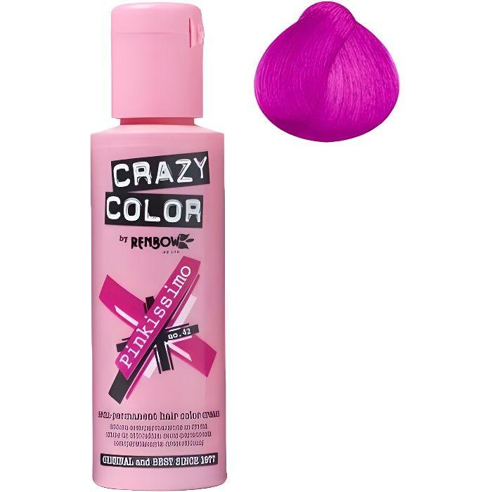 Coloration cheveux semi-permanente CRAZY COLOR PINKISSIMOPour un look FUN et des cheveux aux couleurs vives et originales !Les