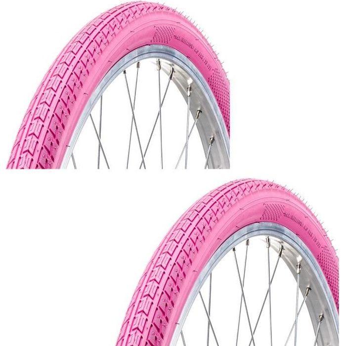 2x PNEU VELO 24- x 1.75 ROSE ETRTO 47-507 ENFANT FILLE FEMME SANS LA JANTE pneus vélo 24 pouces