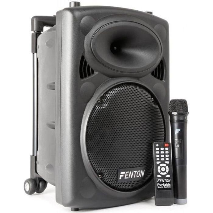 Fenton FPS10 - Enceinte Sono Portable avec micro sans fil, 150W BT/USB/SD/MP3