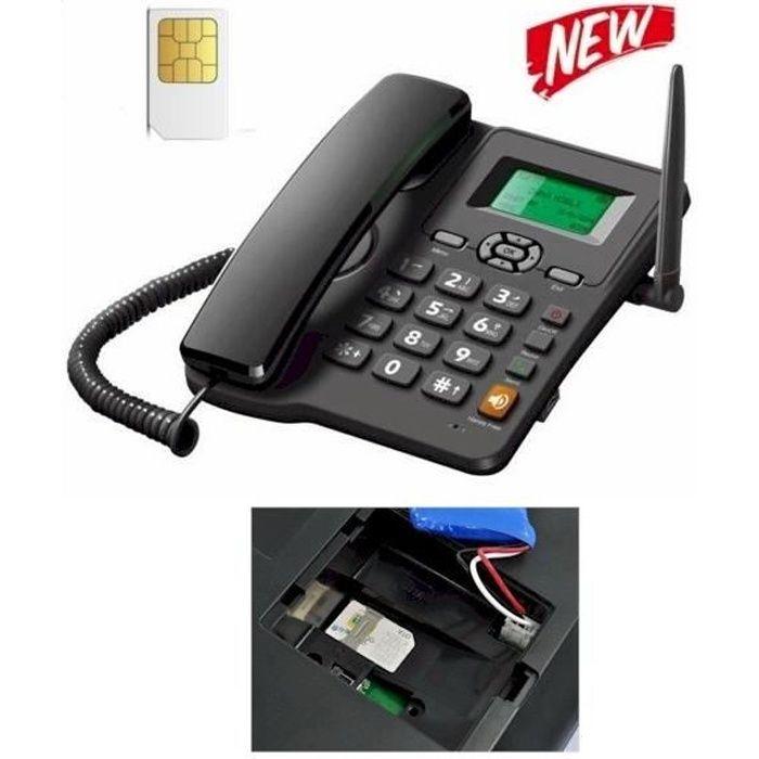 Téléphone fixe GSM (carte SIM)