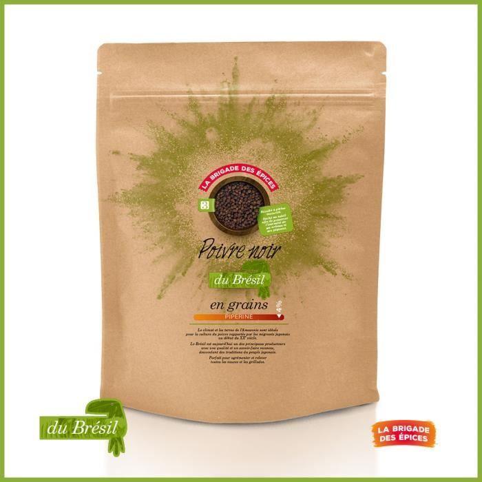 Poivre noir en grain du Brésil - 250 g