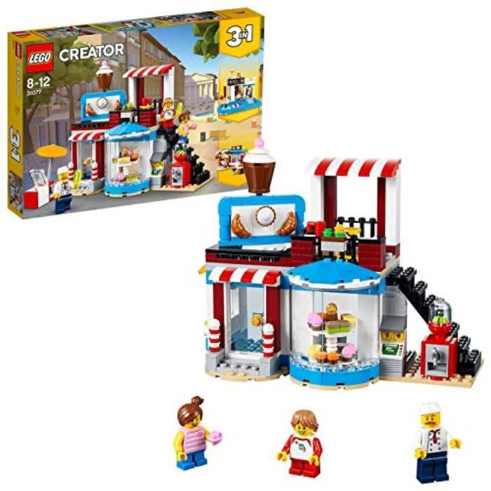 Jeu D'Assemblage D7V5U 31077 Creator 3in1 Coin modulaire Doux Surprises Pool House et Food Cafe Model Set de construction, jouets po