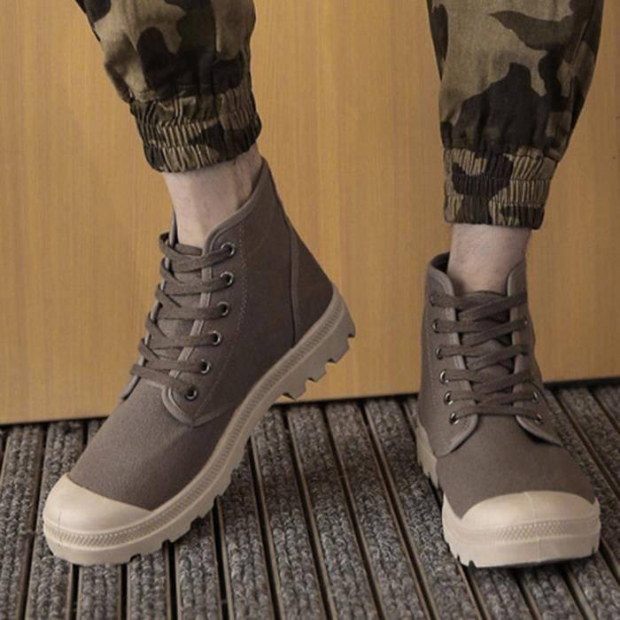 Hommes Casual Haut-Top à lacets en toile Chaussures étudiants Classique Non-Slip Chaussures de randonnée BW45