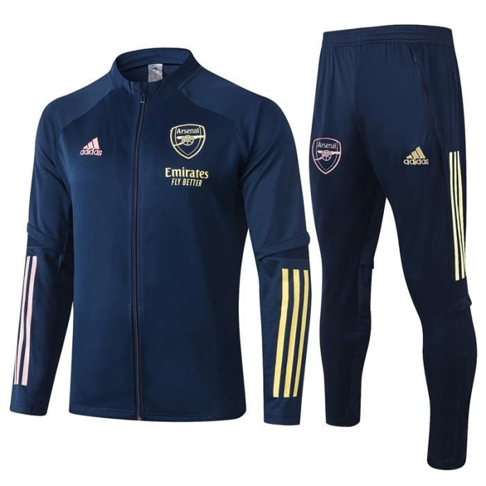 Ensemble Survêtement Arsenal - Maillot de Foot Enfants Homme 2020-21 Ensemble Survêtement Jogging Vêtements de Football