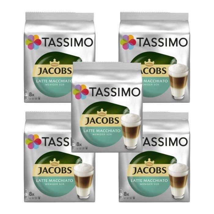 5 Tassimo Jacobs Latte Macchiato Allégé En Sucre