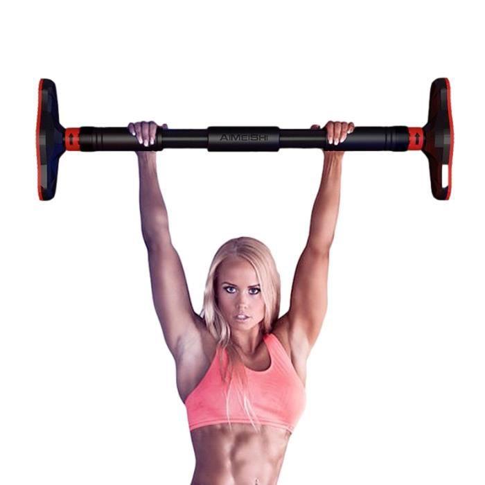 Barre de Traction pour porte DIP Station 65-100cm Horizontale TEZAWA©️ Gym Exercice Fitness
