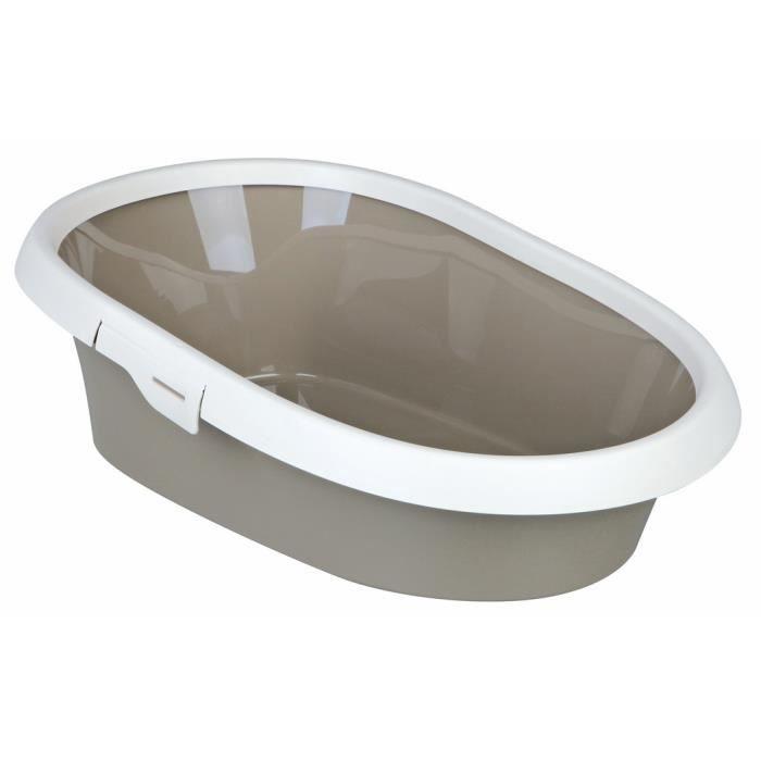 Bac à litière Paulo avec rebord, taupe-crème - 40331 - Bac à litière Paulo avec rebord, 2: 39 × 17 × 58 cm, taupe-crème - 40331
