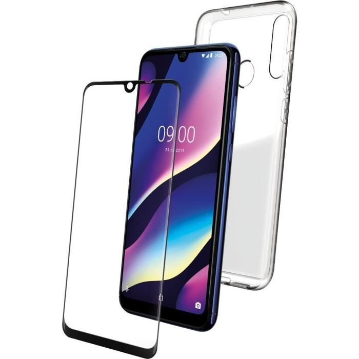 WIKO - PACK COQUE TRANSPARENTE + VERRE TREMPE WIKO VIEW 3