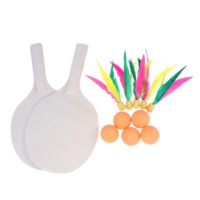 1 PC Portable Durable Non Toxique Pratique En Bois Badminton Tennis Set KIT BADMINTON - PACK BADMINTON - ENSEMBLE BADMINTON