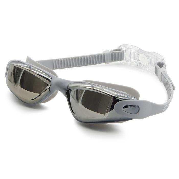 Adapt/é pour Hommes et Femmes Lunettes de Natation Anti-brouillard Verre Miroir Antibu/ée Anti-UV Facile /à Ajuster Professionnel