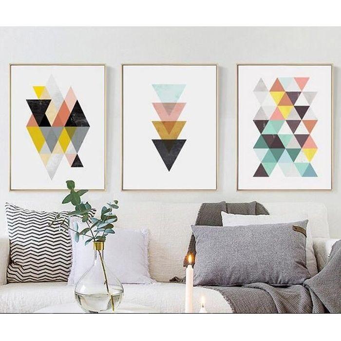 Nordique Géométrique Affiche Impression Scandinave Toile Peinture Pour Salon Mur Art Photos Moderne Décor à La Maison Sans Cadre