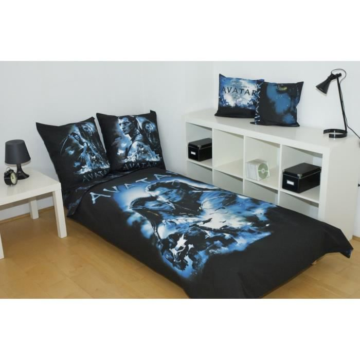 parure housse de couette avatar couple 1 place achat. Black Bedroom Furniture Sets. Home Design Ideas