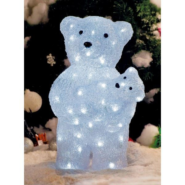 superbe illumination de no l ours avec ours achat vente boule de no l acrylique cdiscount. Black Bedroom Furniture Sets. Home Design Ideas