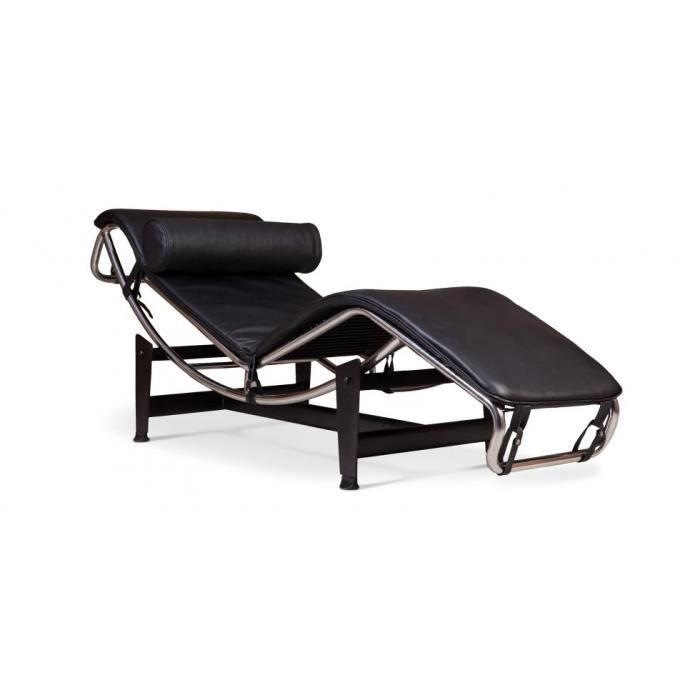 lc4 chaise longue inspir e le corbusier cuir achat. Black Bedroom Furniture Sets. Home Design Ideas