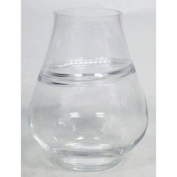 VASE - SOLIFLORE Vase à fleurs GERI, conique-rond, transparent, 25c