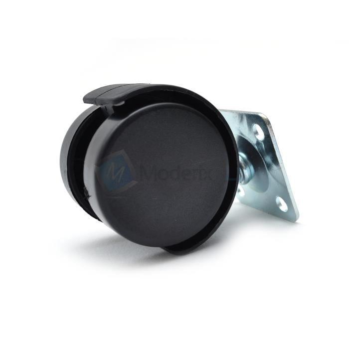 Coldene Castors Ltd/ Avec tige et /écrou Lot de 4 roues pivotantes solides