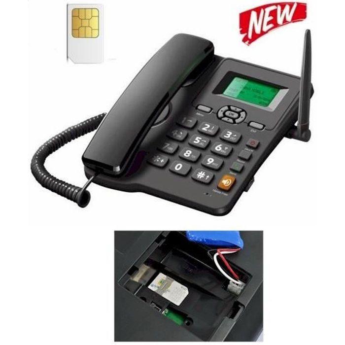 telephone fixe avec carte sim Téléphone fixe GSM (carte SIM)   Achat téléphone fixe pas cher