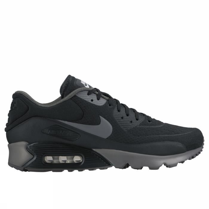 Nike Air Max 90 Leather - Baskets Noires - 302519-001 Noir - Chaussures Basket Homme